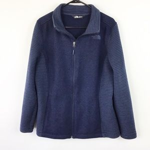 North Face Navy Zip Jacket Womens XL
